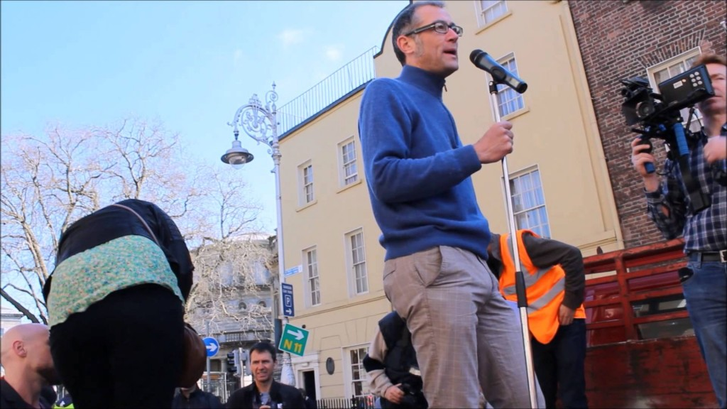 Attac Ireland's Barry Finnegan talks against TTIP in debate on Global Justice Day  16/02/2015