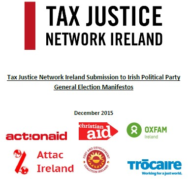 Tax Justice Network Ireland Submission to Irish Political Party General Election Manifestos