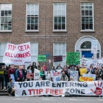 Anti-TTIP Protesters Assemble Outside EU Offices In Dublin