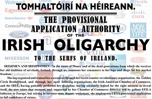The Proclamation of an Irish Oligarchy by Market Forces